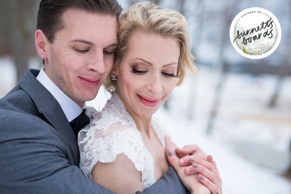 Publicerad: Rustika bröllopsporträtt i vinterskrud