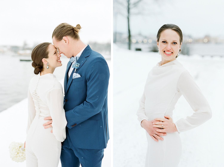 Bröllopsbilder Stockholm vinter